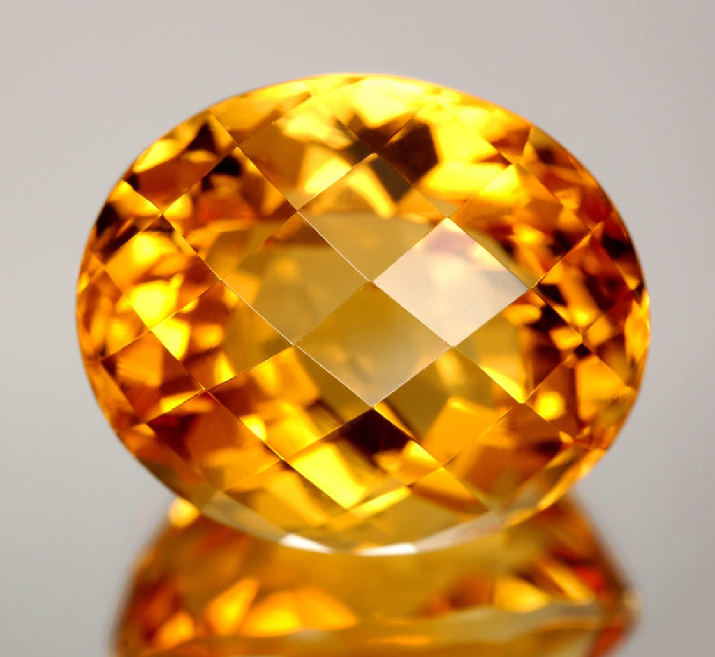 Topaz shining and sparkling in its semi precious state